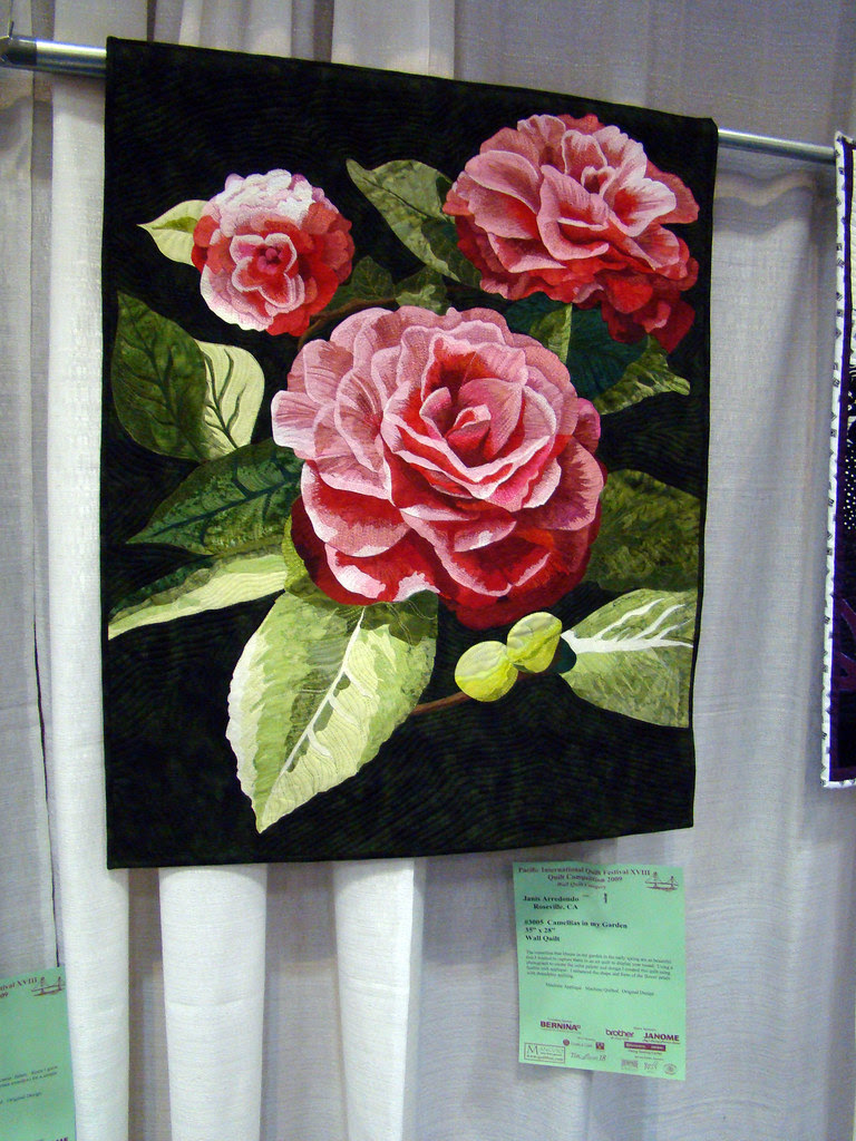 DSC02777 Quilt 3005 Camellias in my Garden by Janis Arredondo