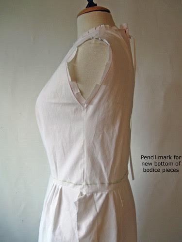 blue vintage muslin waist adjustment2