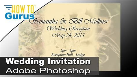How to Design Wedding Invitation Cards in Adobe Photoshop