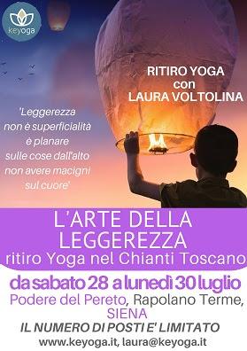 L'Arte della Leggerezza - ritiro Yoga nel Chianti