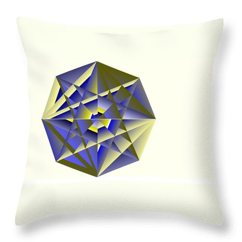 Digital Medallion Throw Pillow featuring the digital art Medallion by Michael Skinner