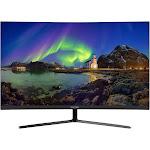 Viotek NB27CB 27-inch LED Curved Monitor with Speakers, Bezel-less Samsung VA Panel, 75Hz 1080p Full-HD FreeSync VGA HDMI Vesa, Black