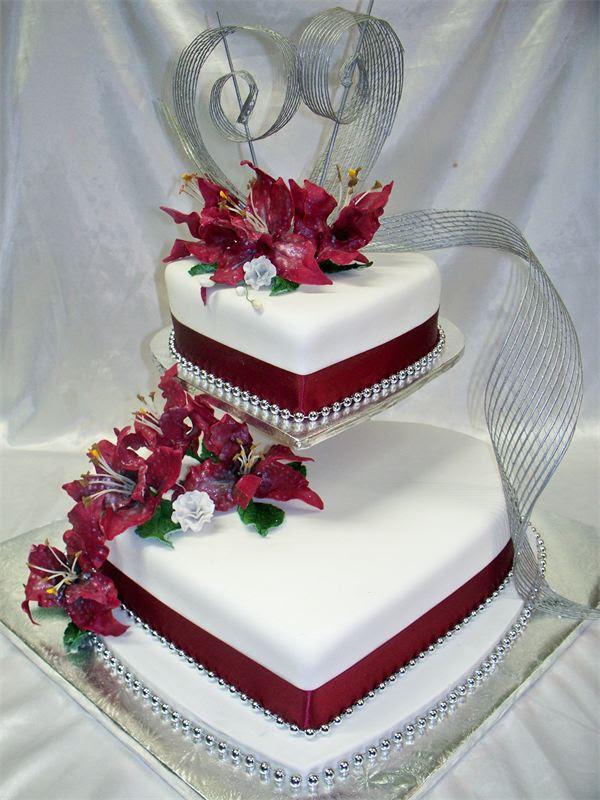 Cake Decoration Design Ideas Amazing 3 Tier Heart Shaped Wedding Cake Design On Eweddinginspiration Eweddinginspiration