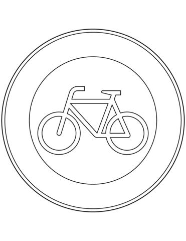 Ausmalbild: Verkehrszeichen in Deutschland: Verbot für ...