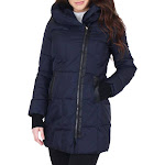 French Connection Womens Winter Water Repellent Parka Coat Navy