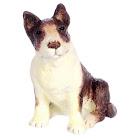 Dollhouse Miniature Sitting Bull Terrier, Brown, Craft Supplies, Doll Making Supplies