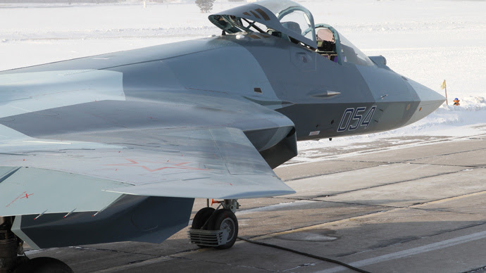 The fourth prototype Т-50 fifth generation jet fighter (RIA Novosti)