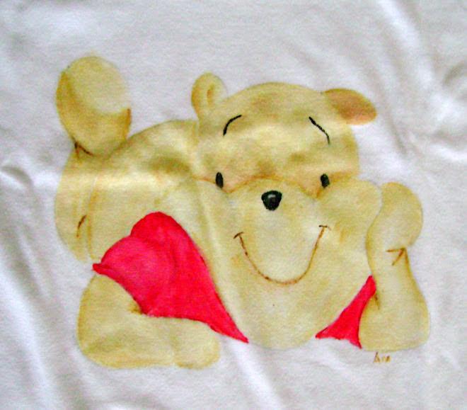 T-Shirt Winnie The Pooh - Tamanho 2- 10Euros