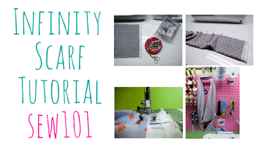 Infinity Scarf Tutorial - 101SEW - Beginner Project with all Straight Lines