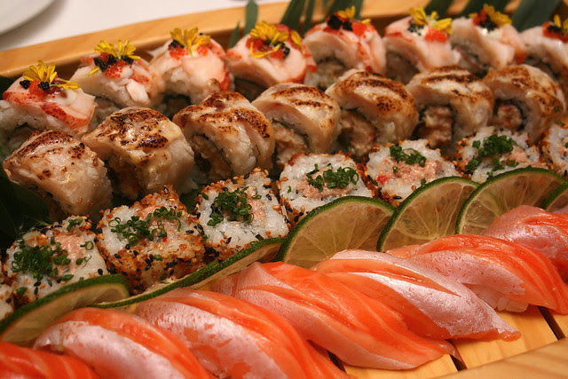 Sushi (Spicy Tuna, Swordfish, Lobster and Salmon)