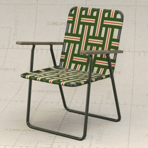 Generic Aluminum Lawn Chair 3D Model - FormFonts 3D Models & Textures
