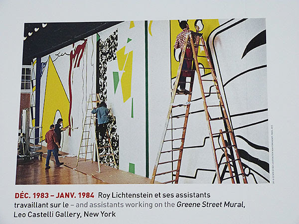 Roy Lichtenstein et assistants