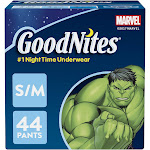 GoodNites Bedtime Bedwetting Underwear for Boys, Size S/M, 44 Count