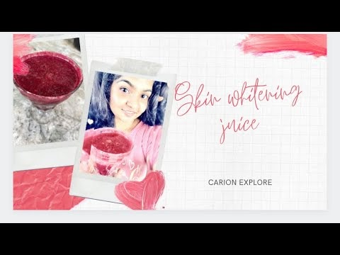 Skin whitening and Glowing with miracle juice    home remedy