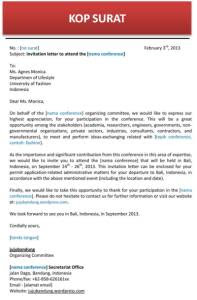 contoh undangan informal bahasa indonesia contoh isi