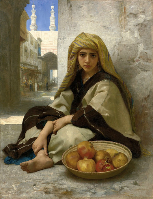Image: The Pomegranate Seller (William Bouguereau - 1875) | William ...