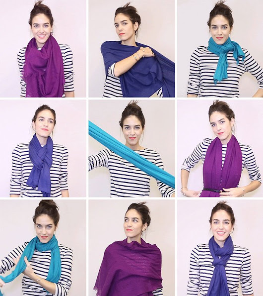 "InStyle on Twitter: ""18 ways to tie a scarf—demoed with GIFs:  """