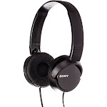 Sony MDR-ZX110 BC ZX Series Compact Folding Stereo Headphones Black