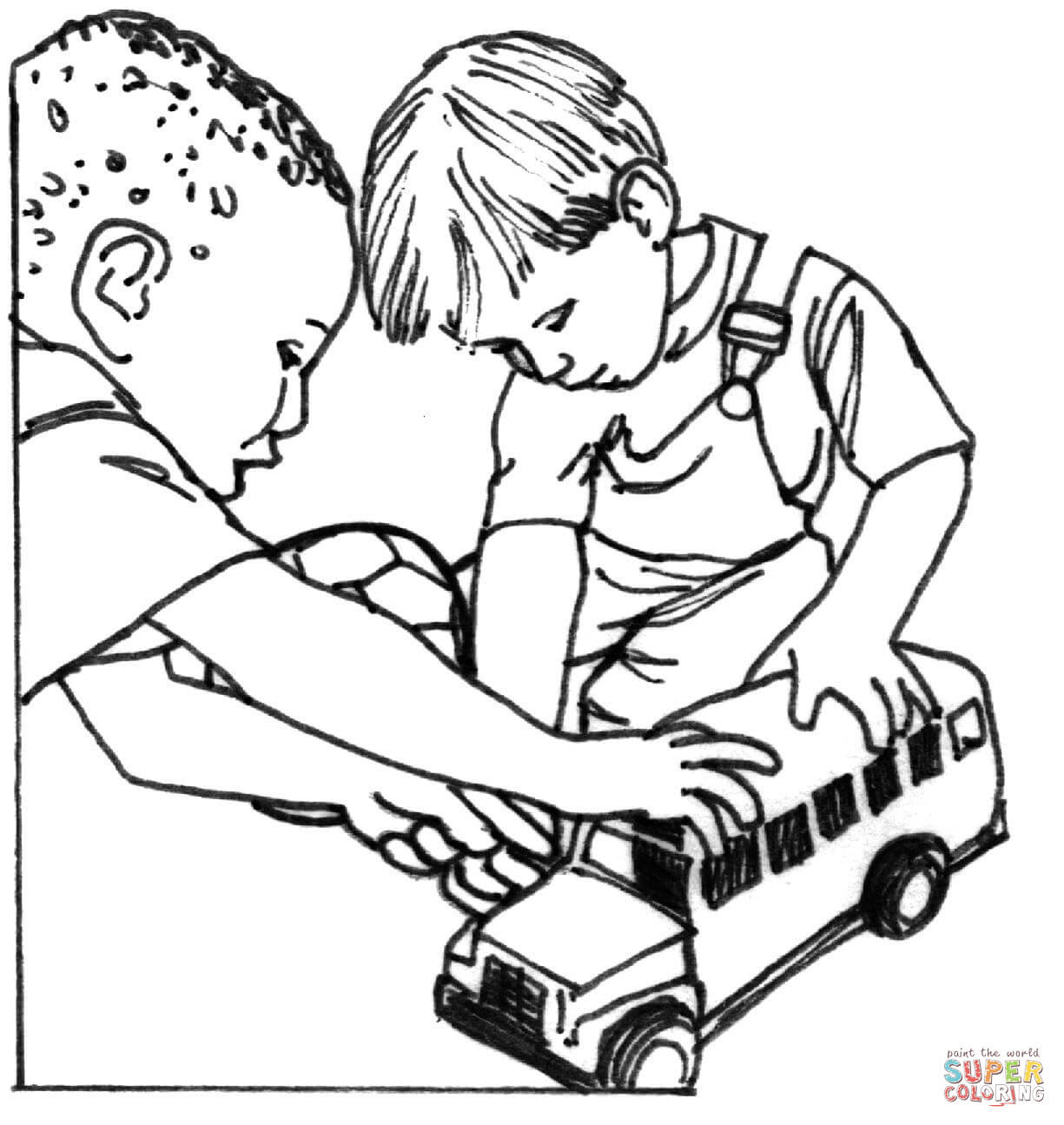 7 Pics Of Children Sharing Coloring Pages Sharing Coloring Pages