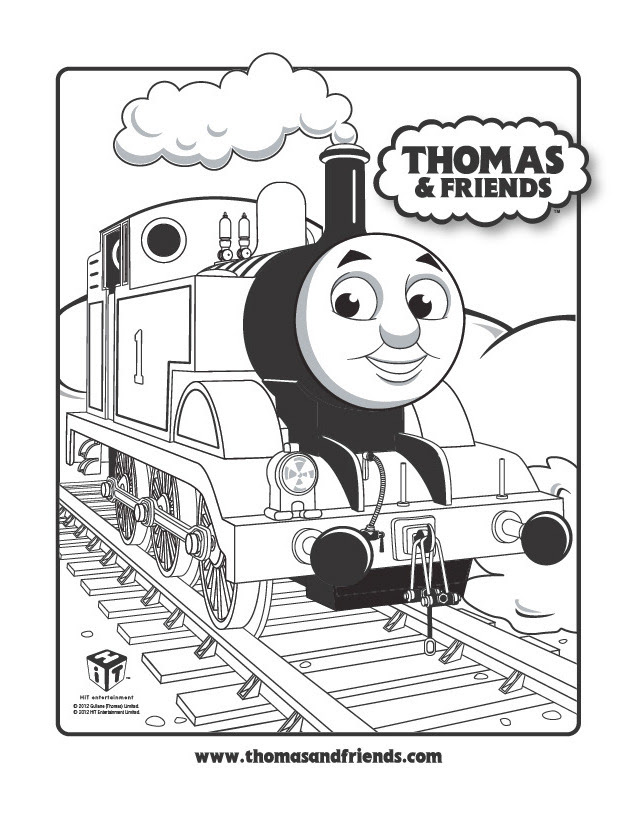 Coloring Pages For Kids Thomas The Train - Drawing With Crayons