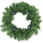"""Northlight 12"""" Two-Tone Pine Artificial Christmas Advent Wreath - Holds 4 Taper Candles"""