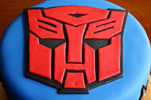 Transformer Autobot Cake
