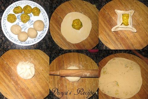 mixed veg parataha8