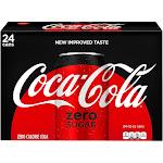 Coca Cola Zero Cola - 24 pack, 12 fl oz cans