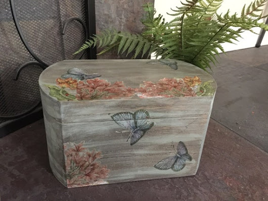 Decoupage box Keepsake box painted wooden box by Earthyshabbychic