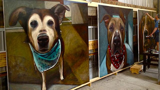 PHOTOS: Painter Immortalizes 5,500 Doomed Shelter Dogs
