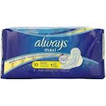 Always Maxi Pads Regular Flexi-Wings 10 ea by Pharmapacks