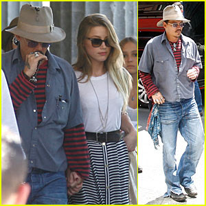 Johnny Depp Amber Heard Hold Hands At Neues Museum Amber Heard