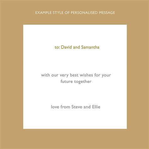 personalised wedding card by designed   notonthehighstreet.com