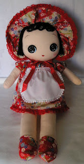 Bunka doll in chirimen dress