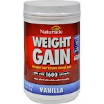 Naturade Super Weight Gain Drink Mix, Vanilla - 40.6 oz canister