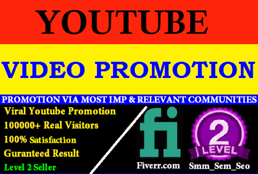 I will promote youtube video to real people
