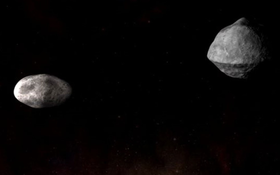 A Nasa planeja atingir o asteroide Didymos para provar sua técnica de deflexão (Foto: NASA/JHUAPL)