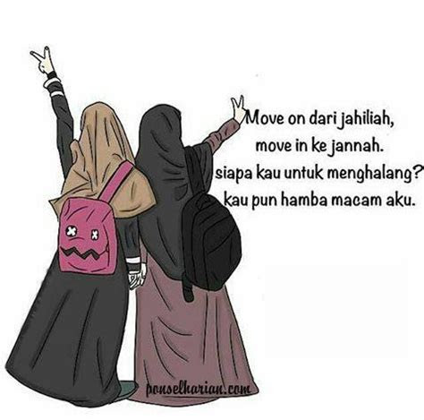 gambar dp bbm hijab syari ponsel harian