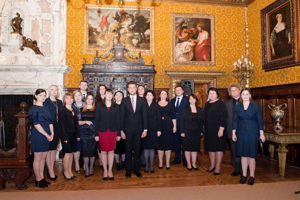 La Castelul Peleș, de ziua Majestății Sale Regelui Mihai I