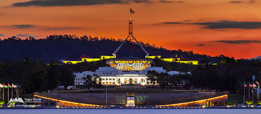 Old and New Parliament House, Canberra, ACT, Australia