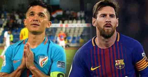 Sunil Chhetri Leaves Lionel Messi Behind, Became the Second Highest International Goalscorer