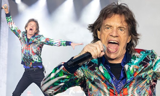 Mick Jagger, 74, rocks the stage for Rolling Stones performance
