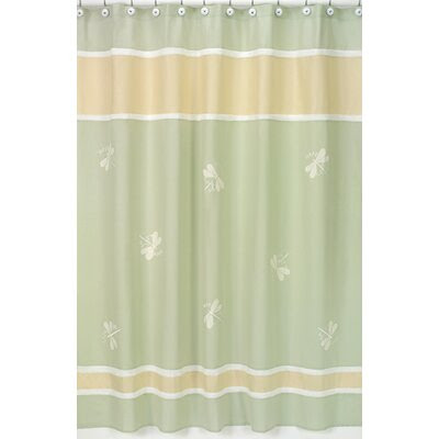 Maytex Mark Fabric Chenille Shower Curtain in Blue | Wayfair