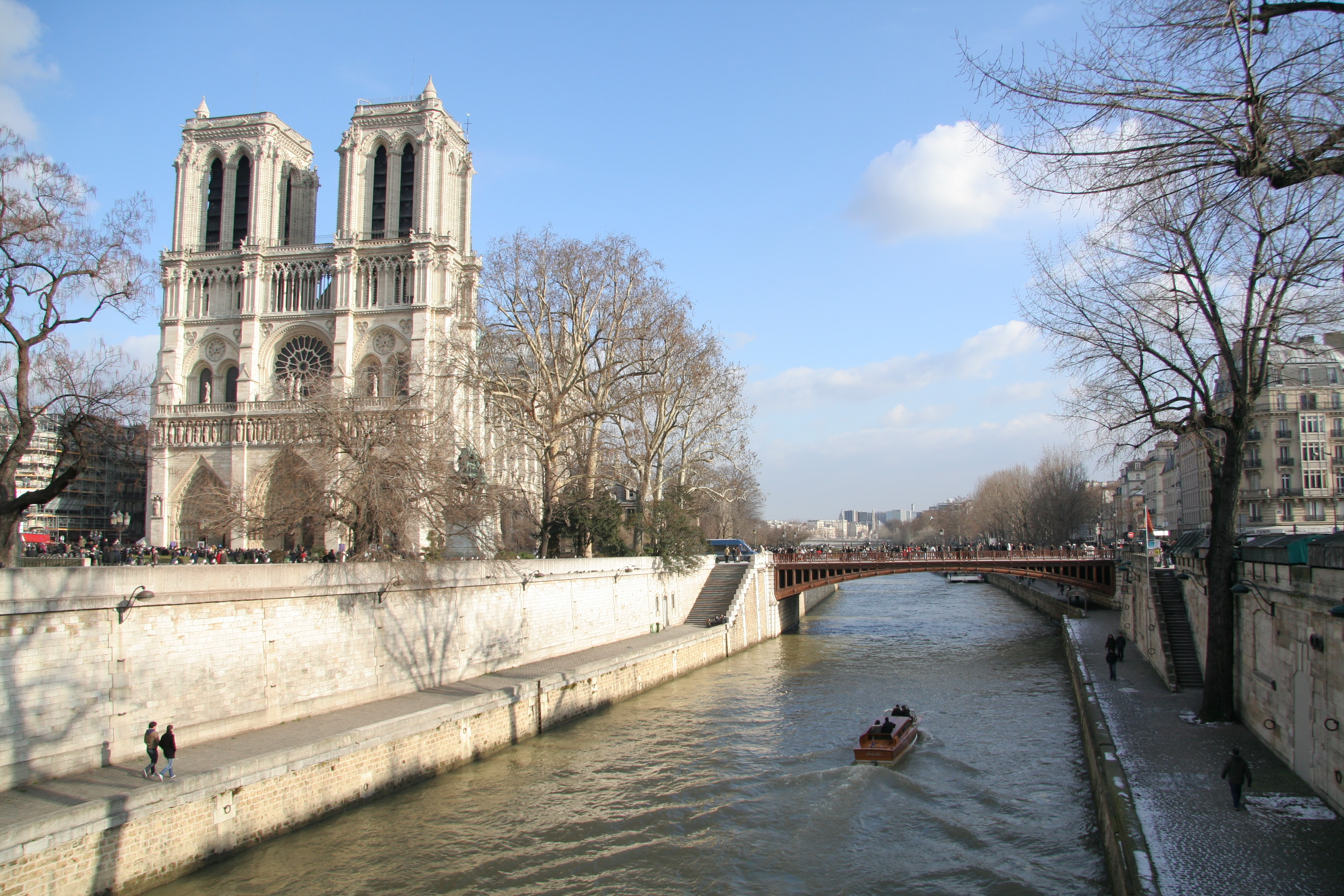 Notre Dame Cathedral from the Seine River
