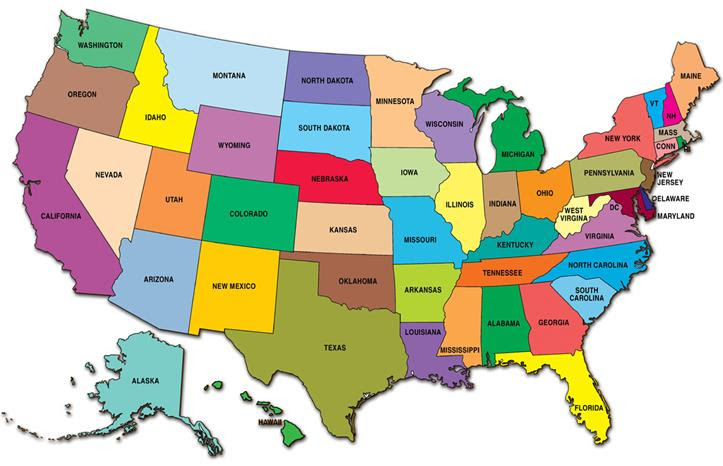 Zip Code Map: United States Current Weather Map