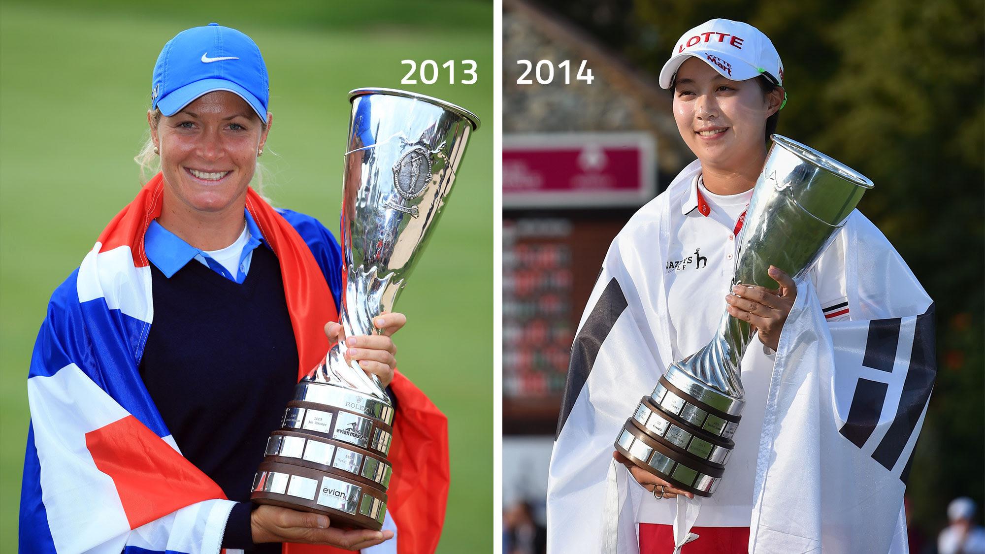 Past champions Suzann Pettersen and Hyo Joo Kim
