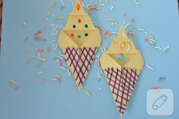 çocuk Etkinlikleri Kağıttan Dondurma Yapımı 10marifetorg