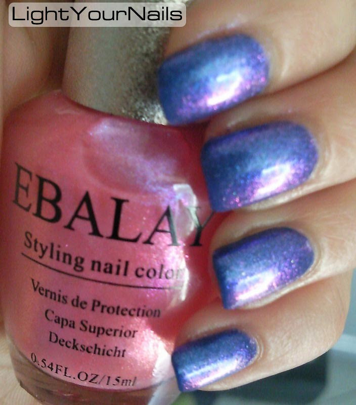 EBALAY Rose Pink Iridescent Shinny Styling Nail Polish [EBALAY-A02] KKcenterhk