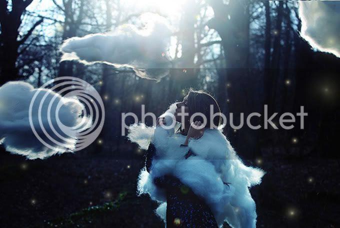 clouds,forrest,blue,mystical