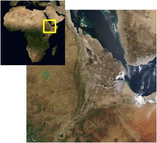 Map of Afar and Africa